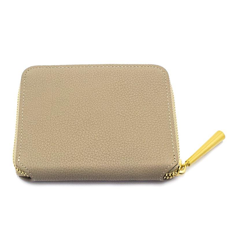 BONNY[BEIGE]シュリンクレザー二つ折り財布 日本製