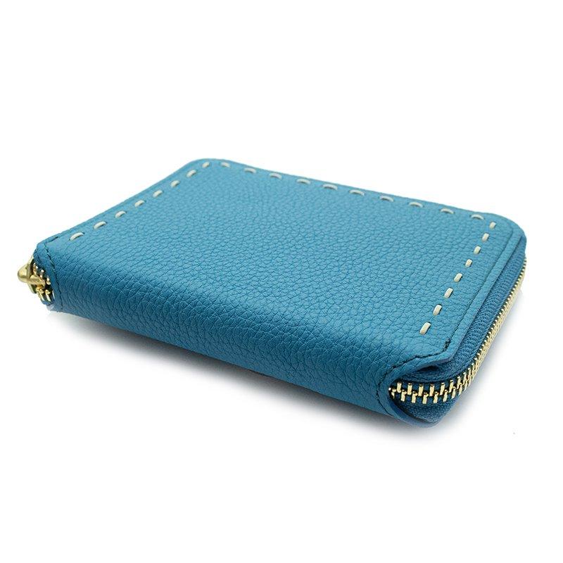 BONNY[CYAN]シュリンクレザー二つ折り財布 日本製