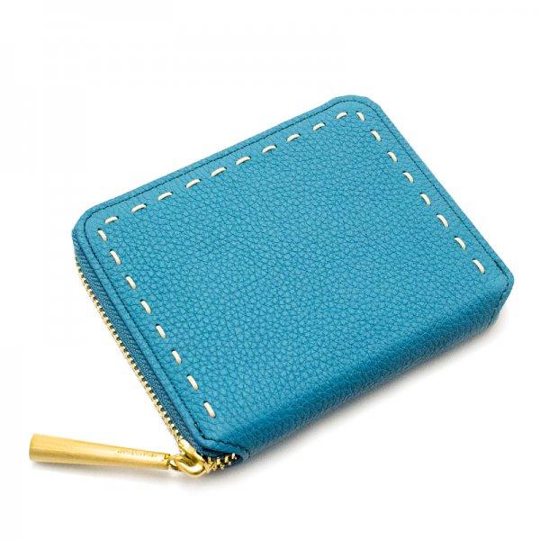 BONNY[CYAN]シュリンクレザー二つ折り財布