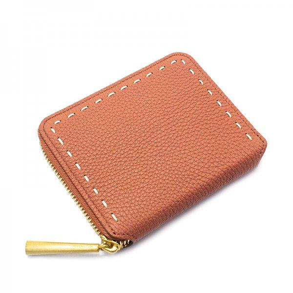 BONNY[TERRACOTTA]シュリンクレザー二つ折り財布