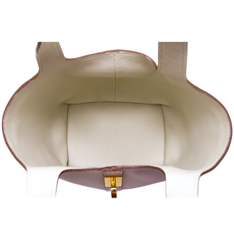 RINA [IVORY限定色] フランス産スムースレザー 本革ミニトートバッグ 日本製
