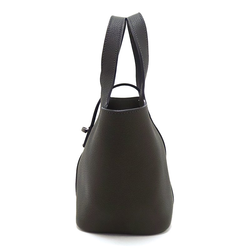RINA [OLIVE限定色] ドイツ産シュリンクレザー 本革ミニトートバッグ 日本製