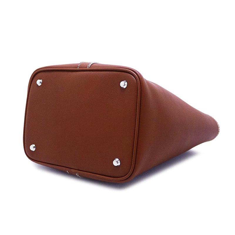 RINA [BROWN限定色] ドイツ産スムースレザー 本革ミニトートバッグ 日本製