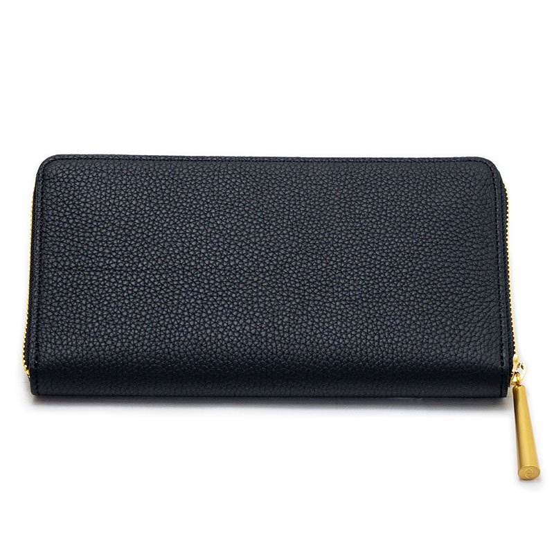SAHO [BLACK] シュリンクレザー・エスポワール ラウンドファスナー長財布 日本製