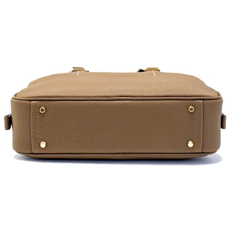 STEPHANIE [OAK] シュリンクレザー・エスポワール 本革ハンドバッグ 日本製