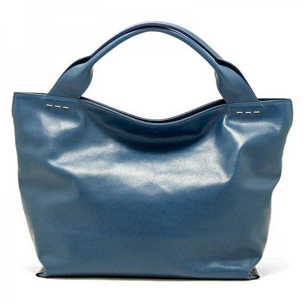 日本製 RAVIOLI [BLUE] 国産スムースレザー・本革トートバッグ