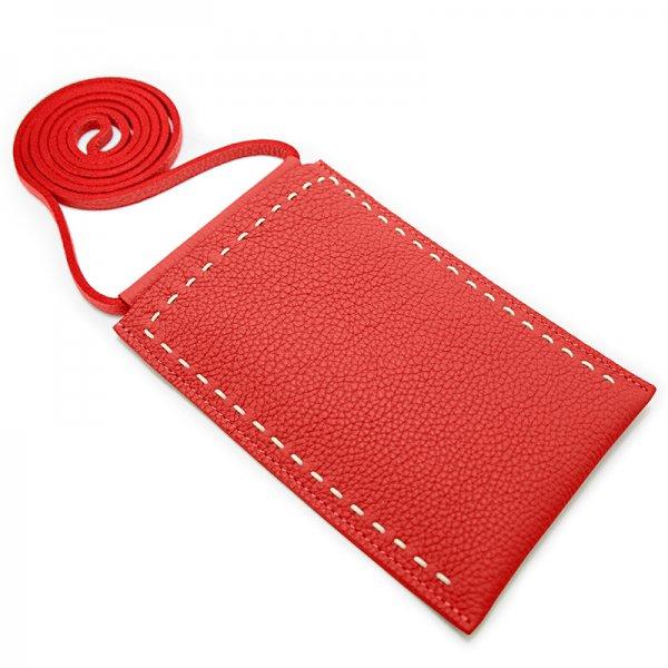 日本製 SPUR [RED] 最高級シュリンクレザー・エスポワール 本革マルチポシェット