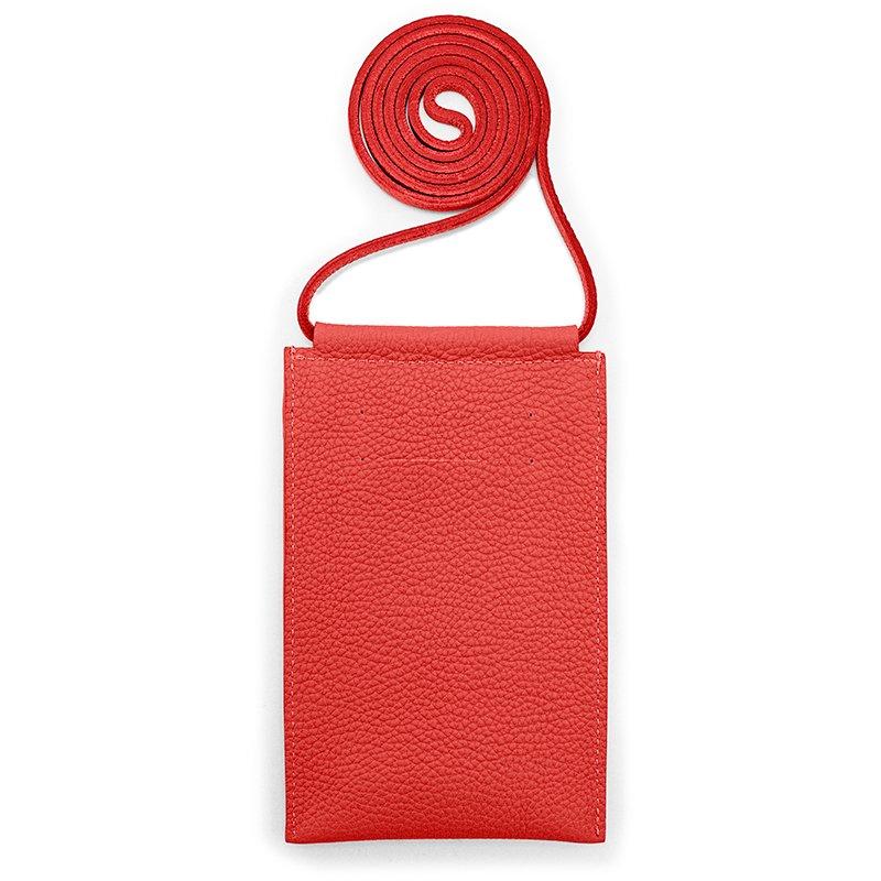 SPUR [RED] シュリンクレザー・エスポワール 本革マルチポシェット 日本製