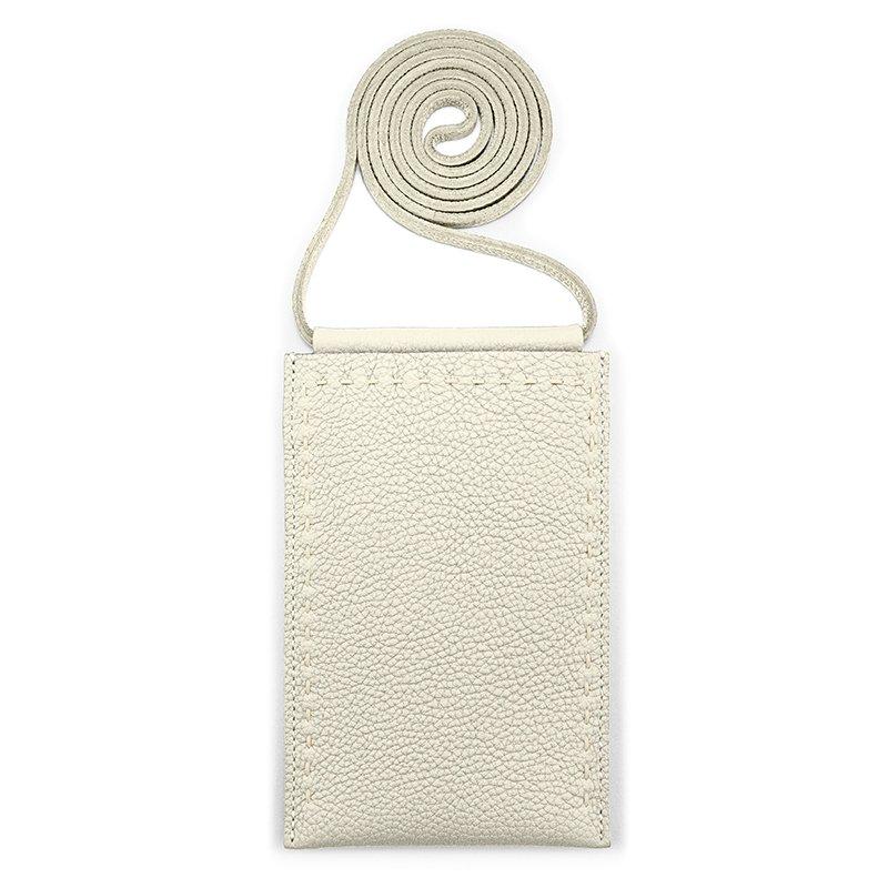 SPUR [WHITE] シュリンクレザー・エスポワール 本革マルチポシェット 日本製