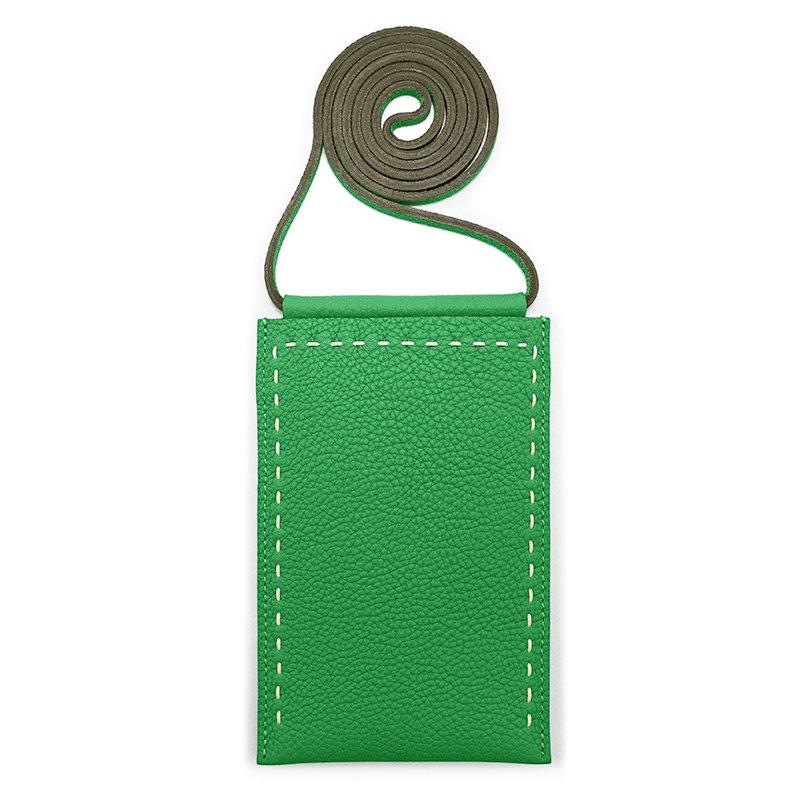 SPUR [GREEN] シュリンクレザー・エスポワール 本革マルチポシェット 日本製