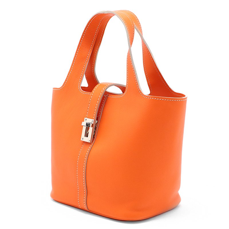 RINA [ORANGE限定色] ドイツ産スムースレザー 本革ミニトートバッグ 日本製