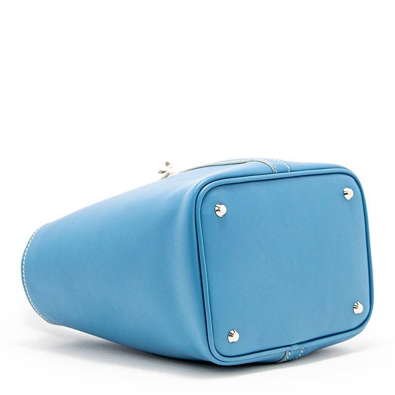 RINA [SKYBLUE限定色] フランス産スムースレザー 本革ミニトートバッグ 日本製