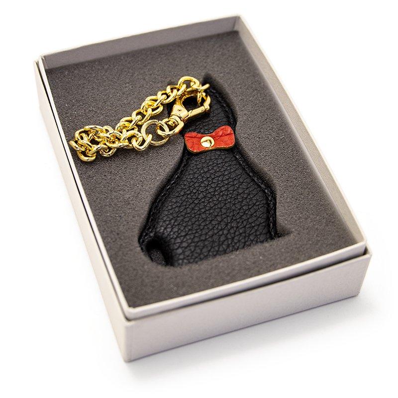 KITTEN [BLACK] シュリンクレザー・エスポワール 本革チャーム 日本製