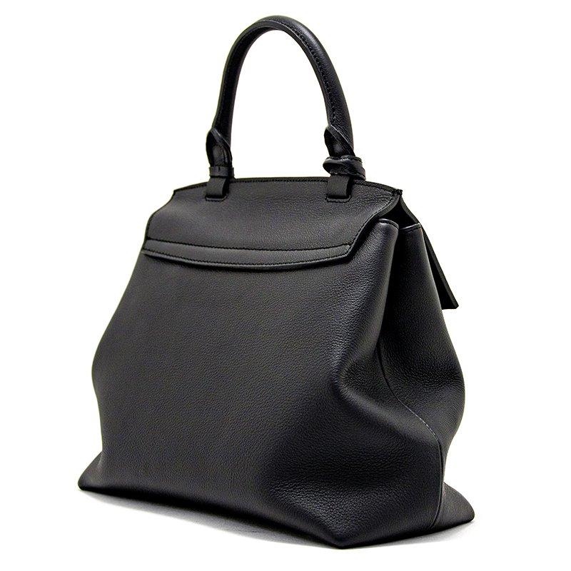 ELISABETH [BLACK] シュリンクレザー・スープレス 本革ハンドバッグ 日本製