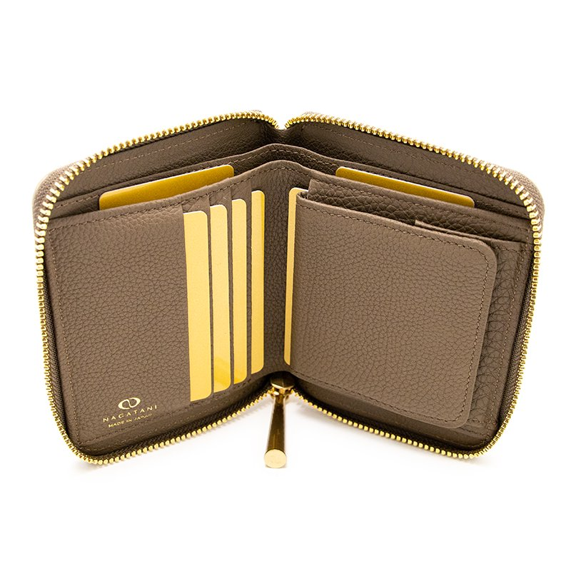 BONNY [OAK 限定色] シュリンクレザー・エスポワール 本革ラウンドファスナー二つ折財布 日本製