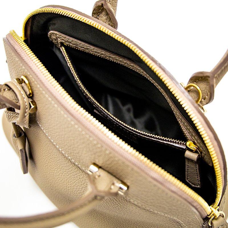 【先行予約商品】ELLIE [BEIGE] シュリンクレザー・エスポワール 本革2WAYショルダーバッグ 日本製