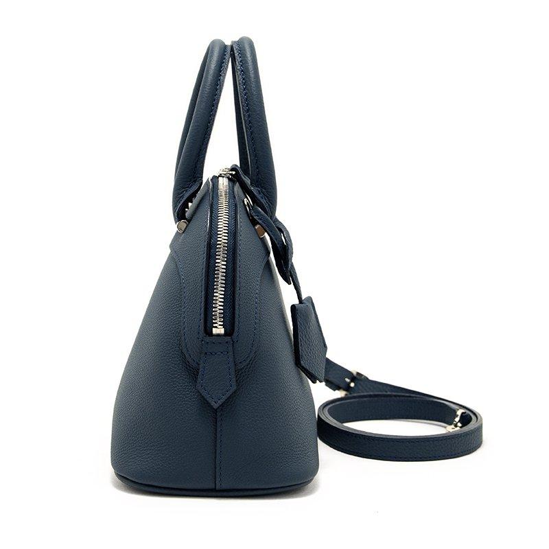 【先行予約商品】 ELLIE [NAVY限定色] シュリンクレザー・エスポワール 本革2WAYショルダーバッグ 日本製