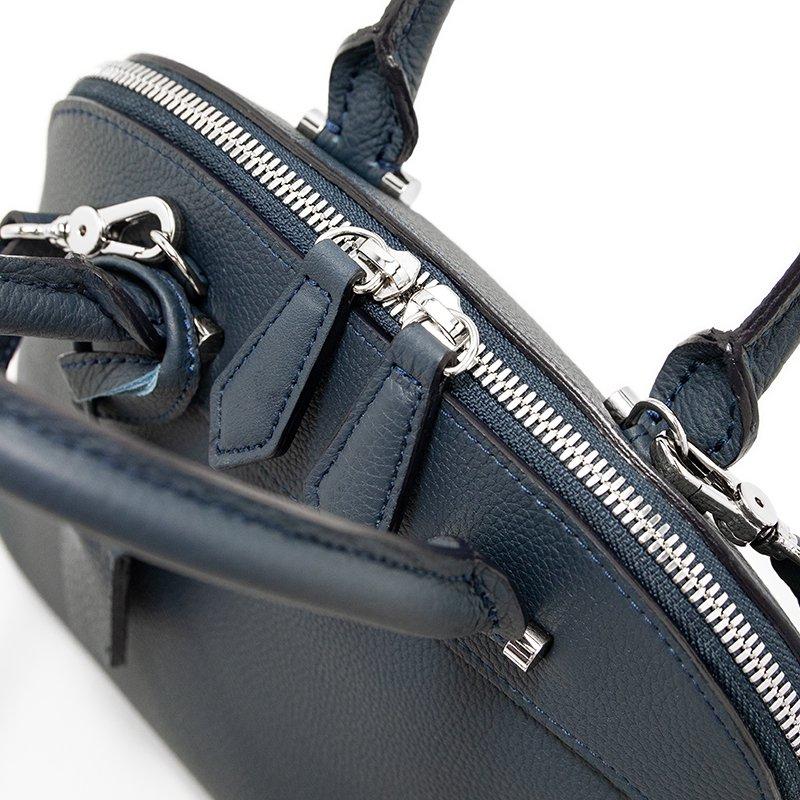 【先行予約商品】ELLIE [NAVY限定色] シュリンクレザー・エスポワール 本革2WAYショルダーバッグ 日本製