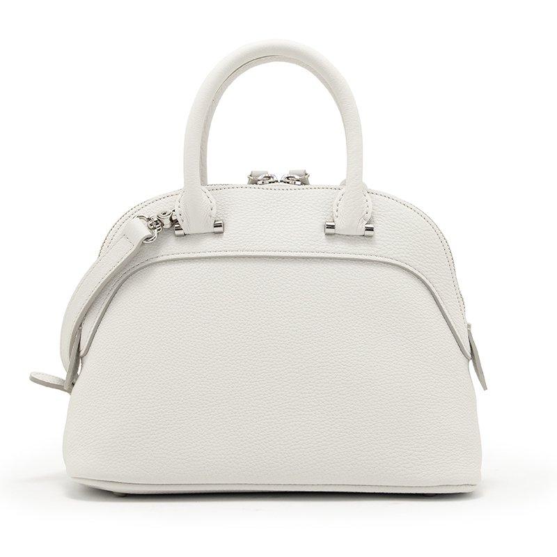 ELLIE [WHITE 夏限定色] シュリンクレザー・エスポワール 本革2WAYショルダーバッグ 日本製