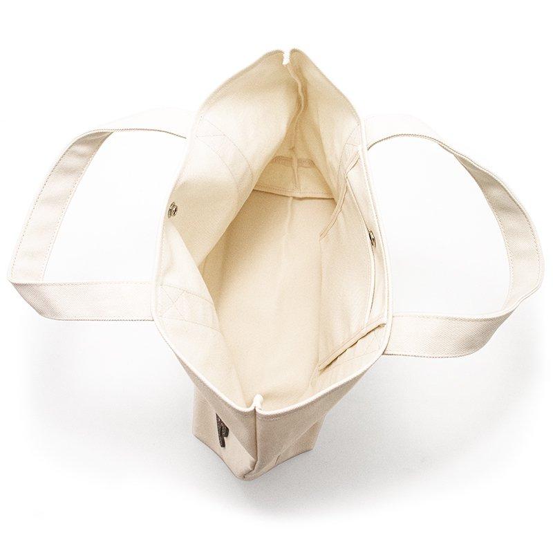 TOTE 01 [IVORY] キャンバス地(帆布) トート・エコバッグ 日本製