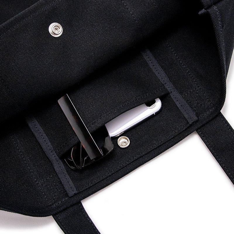 TOTE 01 [BLACK] キャンバス地(帆布) トート・エコバッグ 日本製