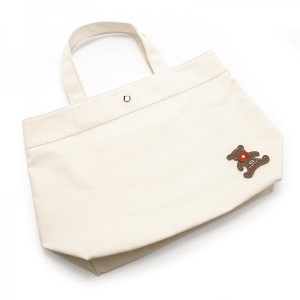 TOTE 02 [IVORY] キャンバス地(帆布) トート・エコバッグ 日本製