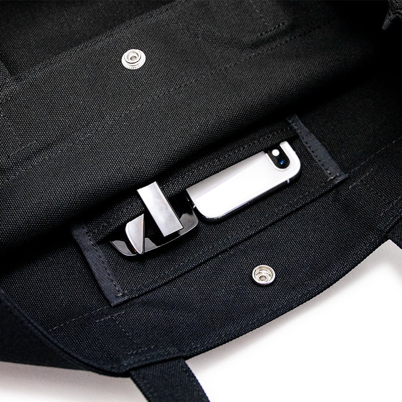 TOTE 02 [BLACK] キャンバス地(帆布) トート・エコバッグ 日本製