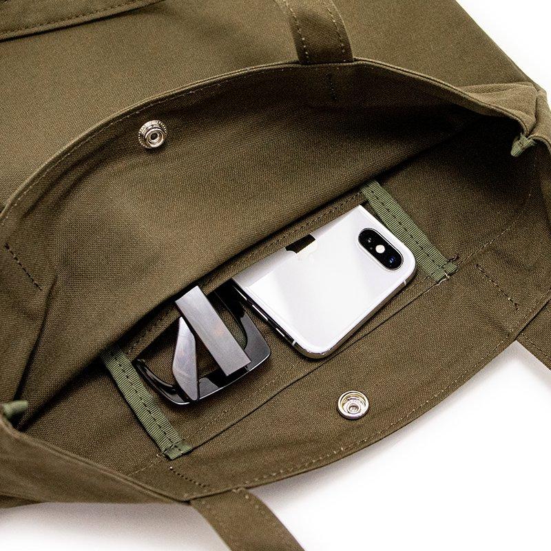 TOTE 04 [KHAKI] キャンバス地(帆布) トート・エコバッグ 日本製