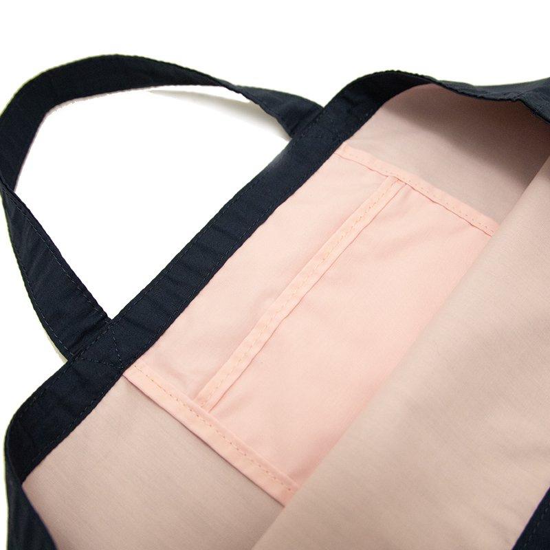 LESSON BAG [NAVY×PINK]  抗菌・抗ウイルス生地 レッスンバッグ・トートバッグ・エコバッグ 日本製