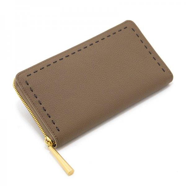 SAHO [OAK 限定色] シュリンクレザー・エスポワール 本革ラウンドファスナー長財布 日本製