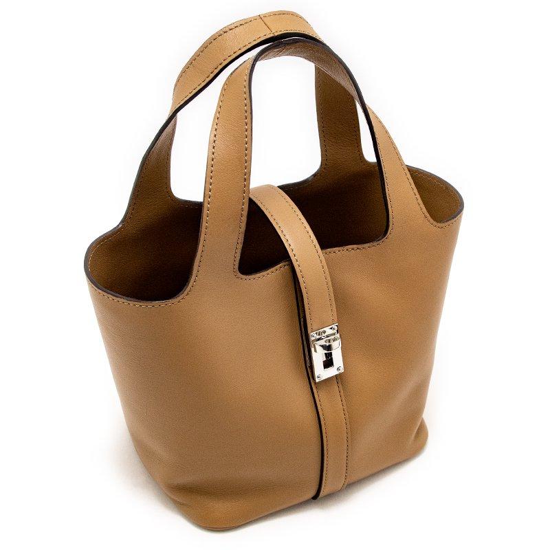 RINA [OAK 限定色] フランス産スムースレザー 本革ミニトートバッグ 日本製