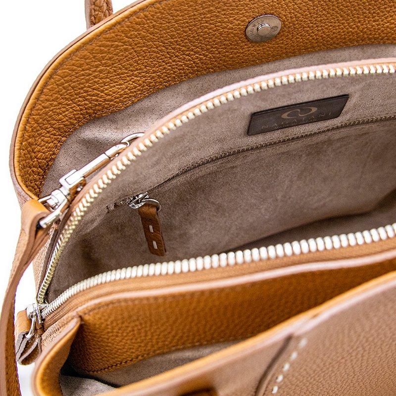 CLEMATIS [CAMEL] シュリンクレザー・エスポワール 本革2WAYショルダーバッグ 日本製