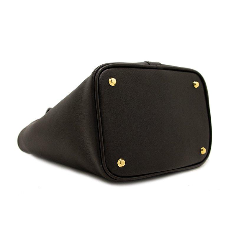 RINA [DARK BROWN 限定色] フランス産スムースレザー 本革ミニトートバッグ 日本製