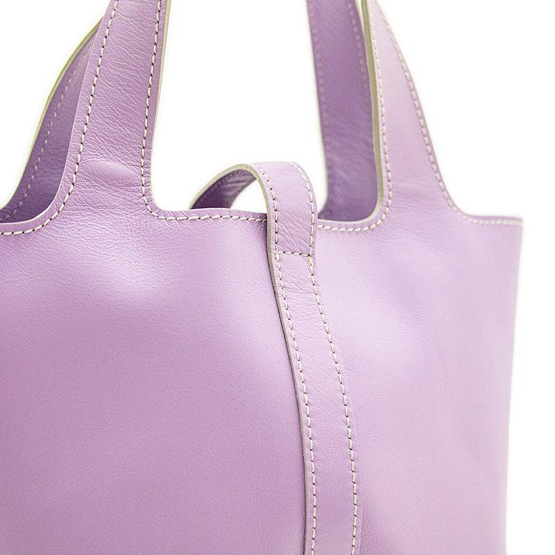 RINA [LAVENDER 限定色] フランス産スムースレザー 本革ミニトートバッグ 日本製