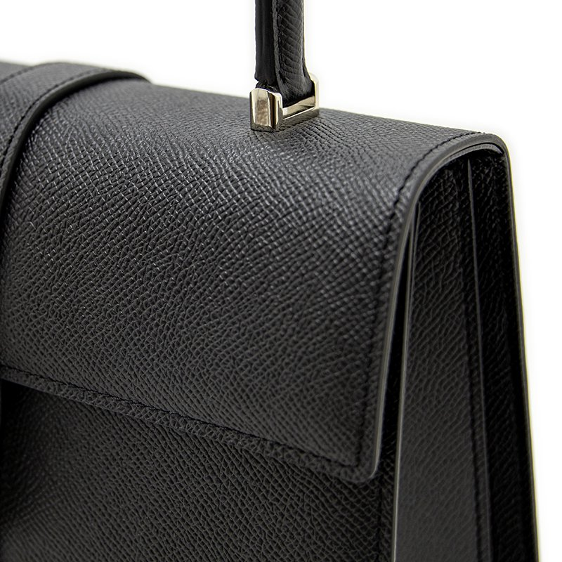 M [SILVER] ワープロルクス・カーフ型押しレザー 本革フォーマルバッグ 日本製