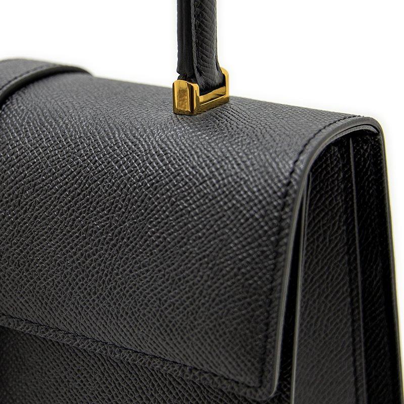 M [GOLD] ワープロルクス・カーフ型押しレザー 本革フォーマルバッグ 日本製