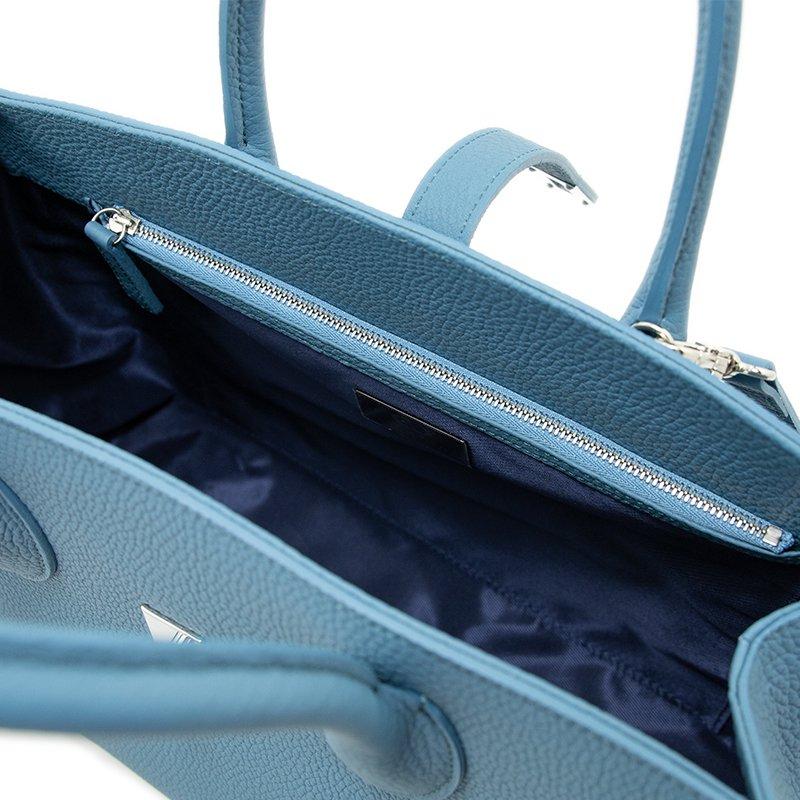 ELIANE [SKYBLUE] シュリンクレザー・エスポワール 本革2WAYトートバッグ 日本製