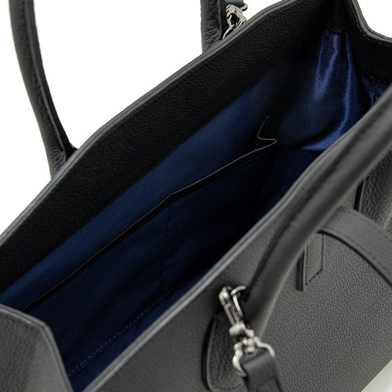 ELIANE [BLACK] シュリンクレザー・エスポワール 本革2WAYトートバッグ 日本製