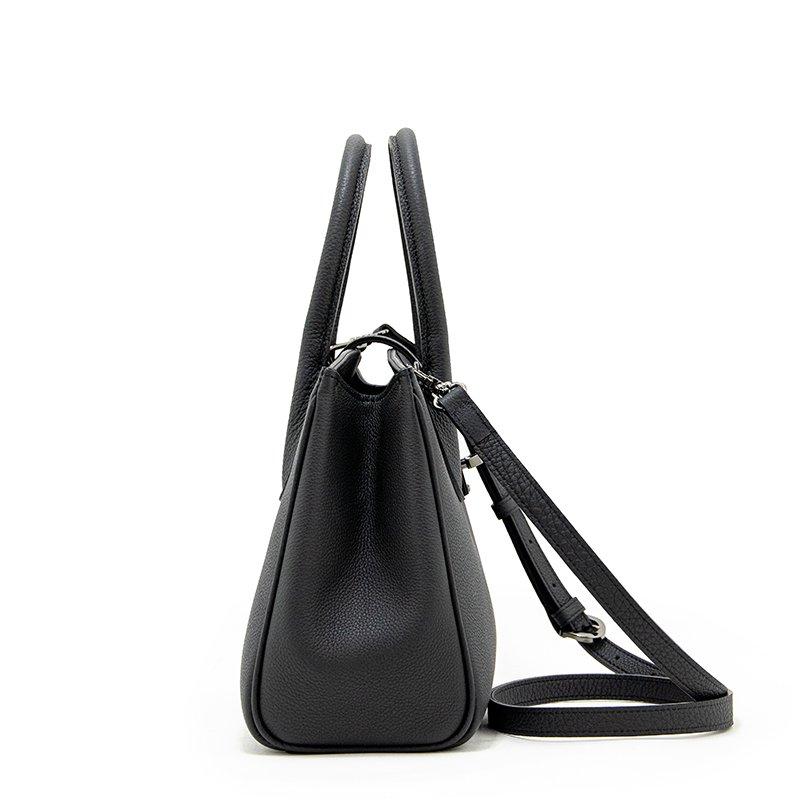 FAYETTE [BLACK] シュリンクレザー・エスポワール 本革2WAYミニトートバッグ 日本製