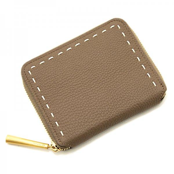 BONNY [OAK] シュリンクレザー・エスポワール 本革ラウンドファスナー二つ折財布 日本製