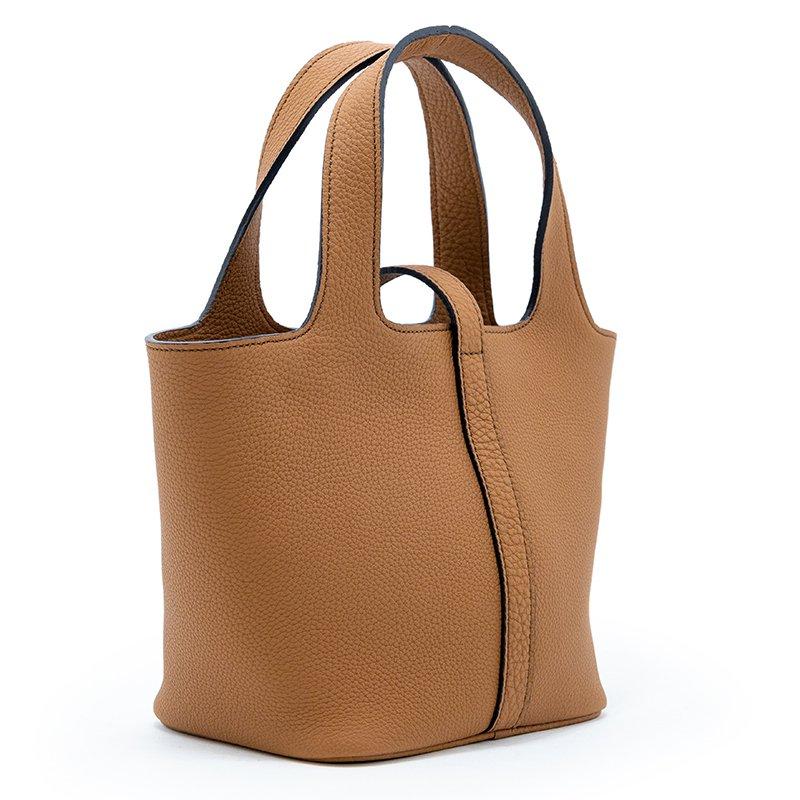 RINA [CAMEL] シュリンクレザー・エスポワール 本革ミニトートバッグ 日本製