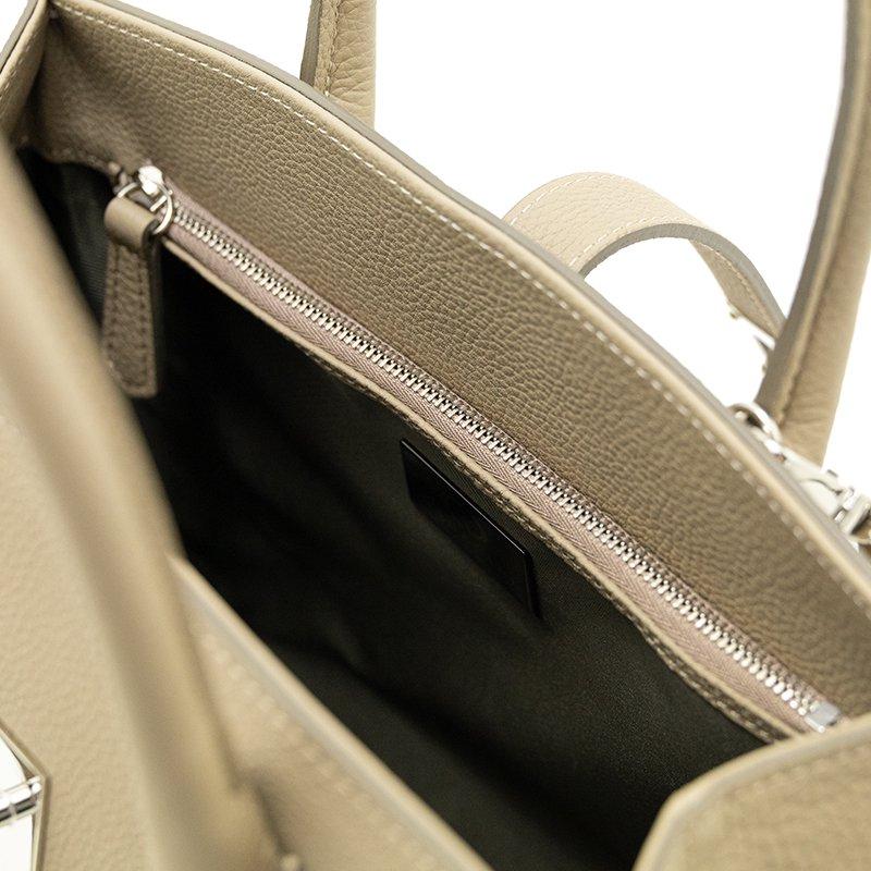 FAYETTE [BEIGE] シュリンクレザー・エスポワール 本革2WAYミニトートバッグ 日本製