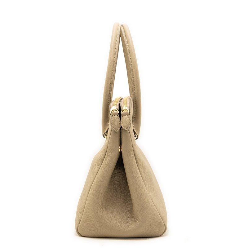 MONA [BEIGE] シュリンクレザー・エスポワール 本革ハンドバッグ 日本製