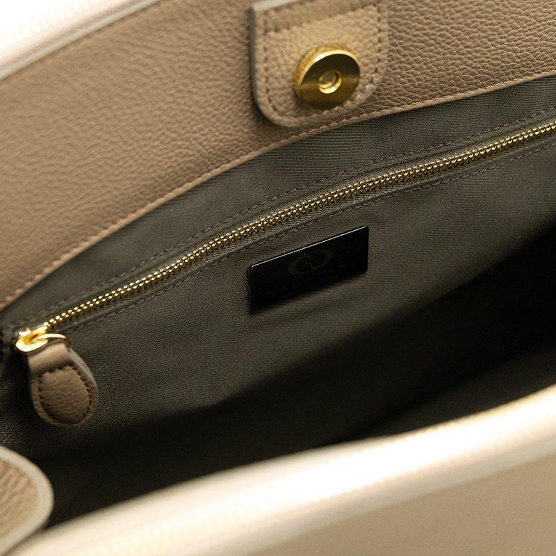 MONA [OAK] シュリンクレザー・エスポワール 本革ダブルファスナーバッグ 日本製