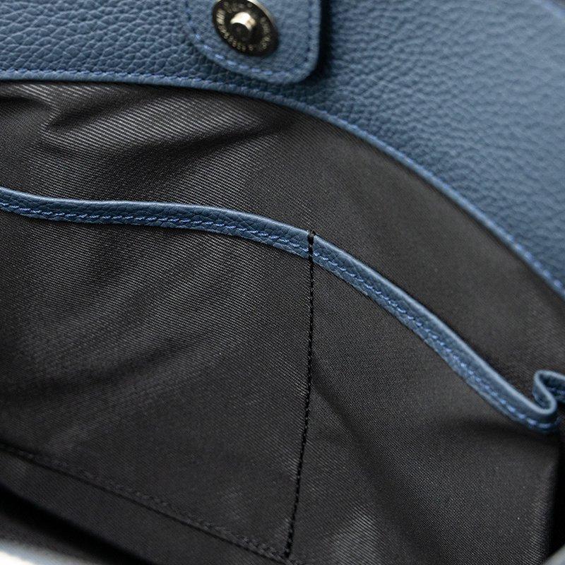 MONA [NAVY] シュリンクレザー・エスポワール 本革ハンドバッグ 日本製