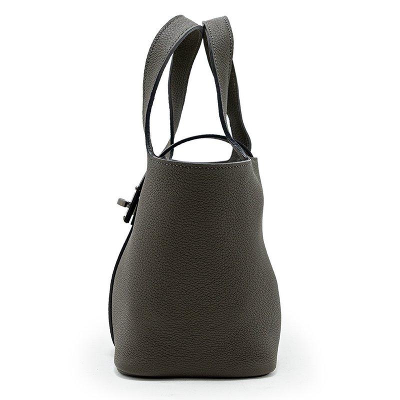 RINA [M.GRAY] シュリンクレザー・エスポワール 本革ミニトートバッグ 日本製