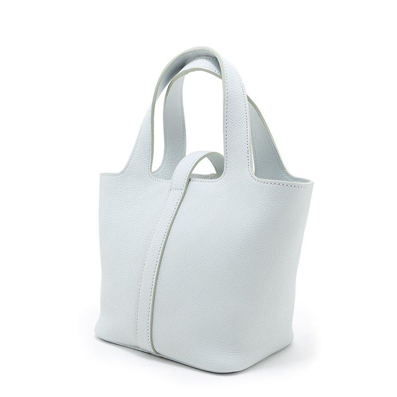 RINA [CHELSEA GRAY 限定色] シュリンクレザー・エスポワール 本革ミニトートバッグ 日本製