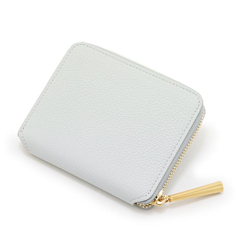 BONNY [CHELSEA GRAY  限定色] シュリンクレザー・エスポワール 本革ラウンドファスナー二つ折財布 日本製