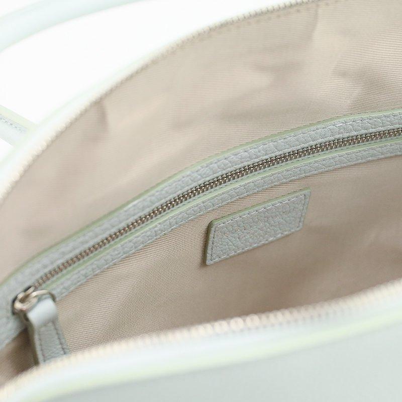 EMMA [CHELSEA GRAY  限定色] シュリンクレザー・エスポワール 本革ハンドバッグ 日本製