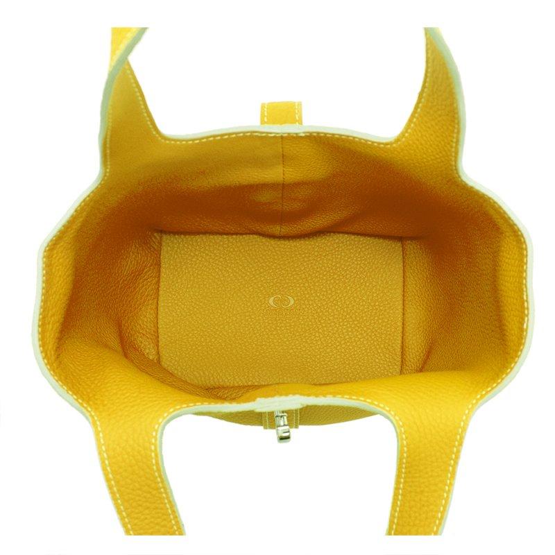 RINA [YELLOW] シュリンクレザー・エスポワール 本革ミニトートバッグ 日本製